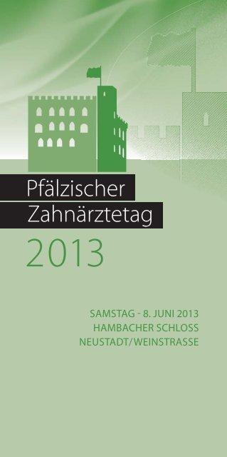 Pfälzischer Zahnärztetag - Bezirkszahnärztekammer Pfalz