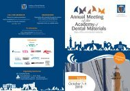 2010 - Academy of Dental Materials