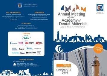 2010 - Academy of Dental Materials