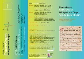 Flyer - beim Chorverband der EKHN