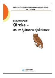 Stroke - - Landstinget Västernorrland