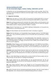 Rechenschaftsbericht 2008 - Gemeinde Mettauertal