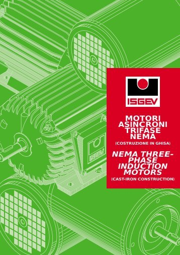 motori asincroni trifase nema nema three- phase induction motors