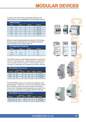 Modular Devices - Doepke UK Ltd