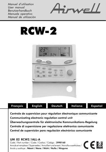 Commande centraliséee RCW2 Airwell.