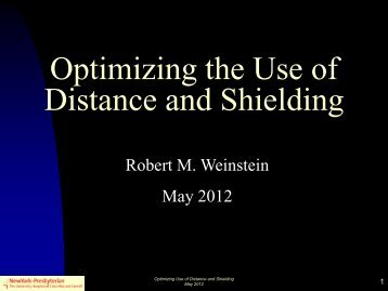 Optimizing the Use of Distance and Shielding