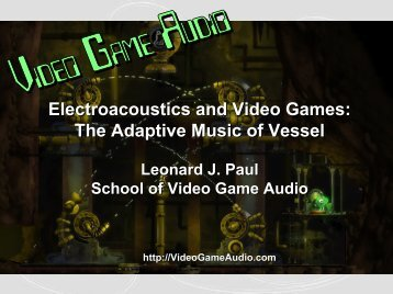 The Adaptive Music of Vessel - Video Game Audio