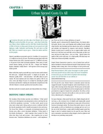 Urban Sprawl Costs Us All (pdf document) - Thornlea