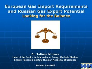 European Gas Import Requirements and Russian Gas Export Potential