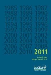 Ecobank Togo Rapport Annuel 2011
