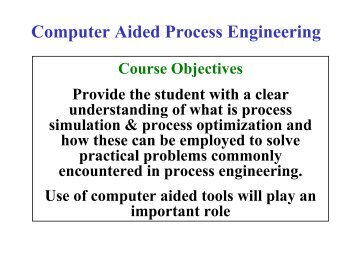 Computer Aided Process Engineering - CAPEC