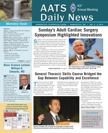 Monday - Thoracic Surgery News