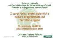 I corpi idrici - Ambiente in Liguria