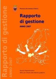 Rapporto di gestione - Giunta - Provincia autonoma di Trento