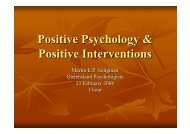 Positive Psychology & Positive Interventions - APS Member Groups