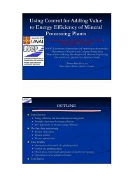 Using Control for Adding Value to Energy Efficiency of Mineral ...
