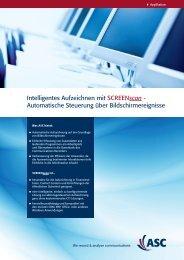 Intelligentes Aufzeichnen mit SCREENscan ... - ASC telecom