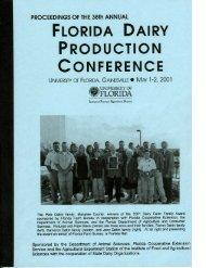 Program and Awards - Florida Dairy Extension