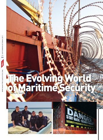 The Evolving World of Maritime Security - Security Resource Center ...