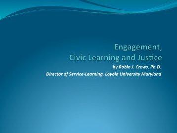 Crews, Robin – 2013 Justice Conference ... - Creighton Blogs