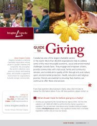 Guide to Giving - Imagine Canada