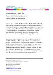 2. Pressemeldung vom 10. August 2009 Münchner Woche für ...