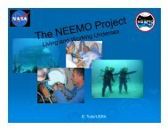 GOING DEEP: Living and Working Undersea during NEEMO ...