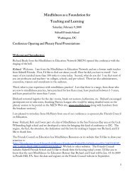 Morning Introduction & Plenary Session (.pdf) - The Mindfulness in ...