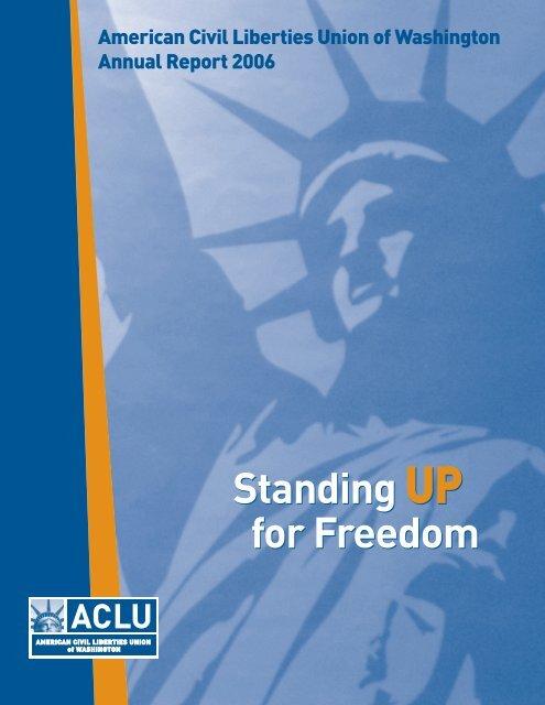 ACLU-WA 2005-06 Annual Report - ACLU of Washington