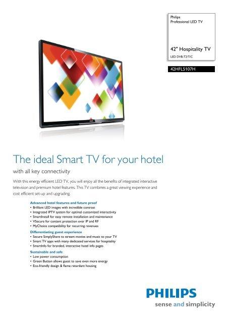 42HFL5107H/10 Philips Professional LED TV - Yardley Hospitality