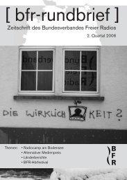 Onlineversion (850 kbyte) - Bundesverband Freier Radios