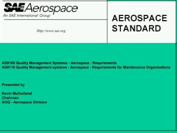 AS9100 Quality Management Systems - Australian Organisation for ...