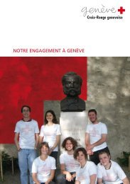 Brochure d'activités générales - Croix-Rouge Genevoise