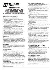 parts list - Tuthill Latinamerica