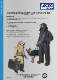 Light-Weight Fragment Protection Suit LPS-380 - Force Ware