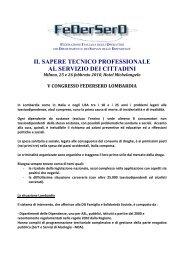 Dati sui Servizi Dipendenze Lombardia - FeDerSerd