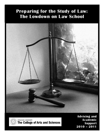 Preparing for the Study of Law - College of Arts and Sciences