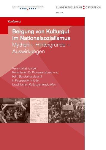"""Konferenz """"Bergung von Kulturgut im Nationalsozialismus"""""""