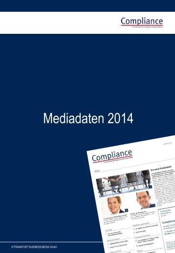 Compliance Mediadaten 2013 – deutsch (PDF)
