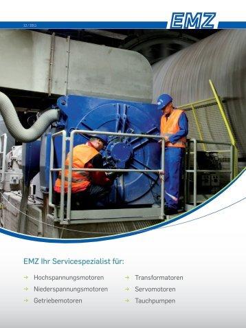 Aktueller EMZ Service Katalog - bei EMZ