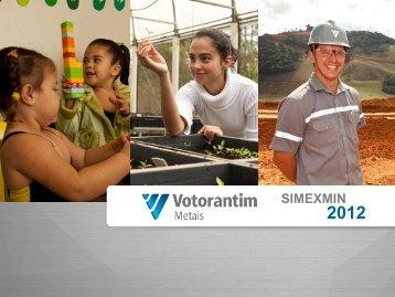 Programa de Exploração Mineral da Votorantim Metais no ... - ADIMB