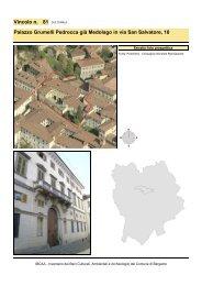 Vincolo n. 81 Palazzo Grumelli Pedrocca già Medolago in via San ...