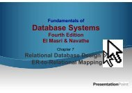 Mapping EER to Relational Schema