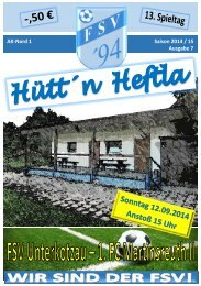 AK-Nord 1 Saison 2014 / 15 Ausgabe 7