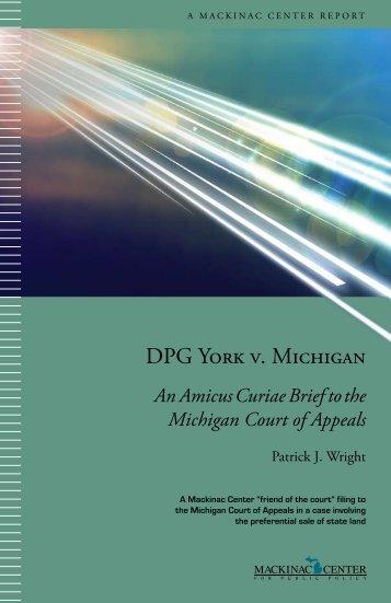 DPG York v. Michigan - Mackinac Center