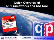Quick Overview of QP Frameworks and QM Tool - Quantum Leaps