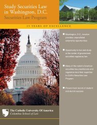 Study Securities Law in Washington, D.C. - Columbus School of Law