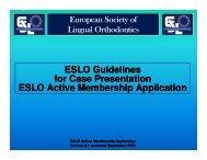 ESLO Guidelines for Case Presentation ESLO ... - Colloquium