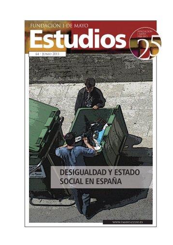 Desigualdad y Estado social en España - Fundación 1º de Mayo