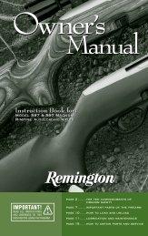 Model 597 Owner's Manual - Remington
